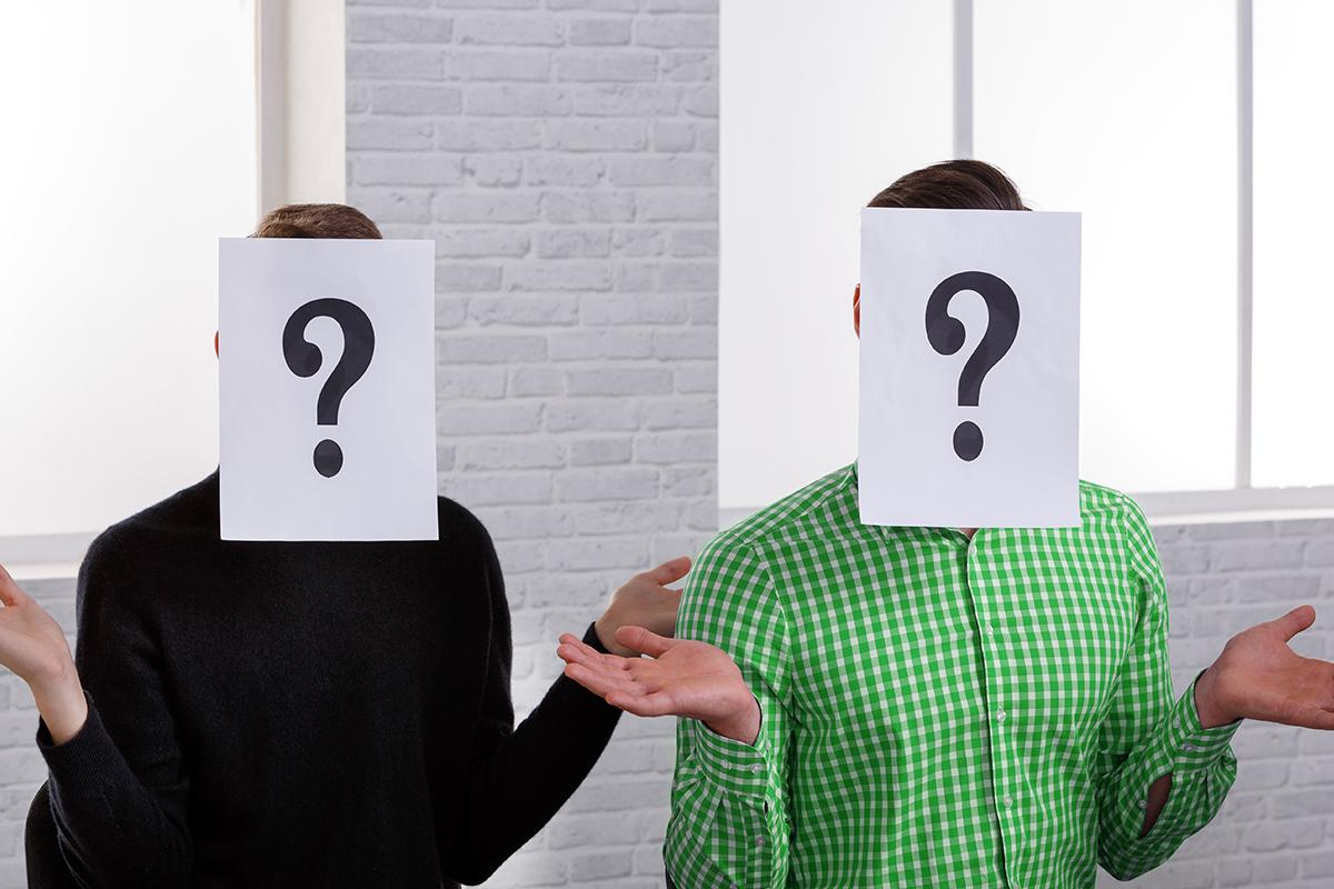 potential residents with question marks on their faces