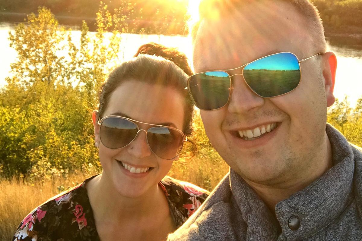 cory hawkes wearing sunglasses